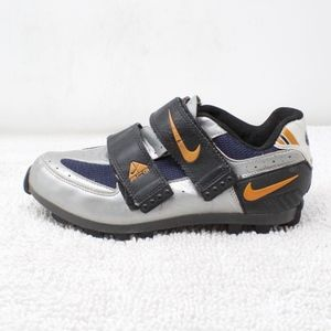 Nike ACG Silver Lace Up Velcro Bicycle Shoes 7.5